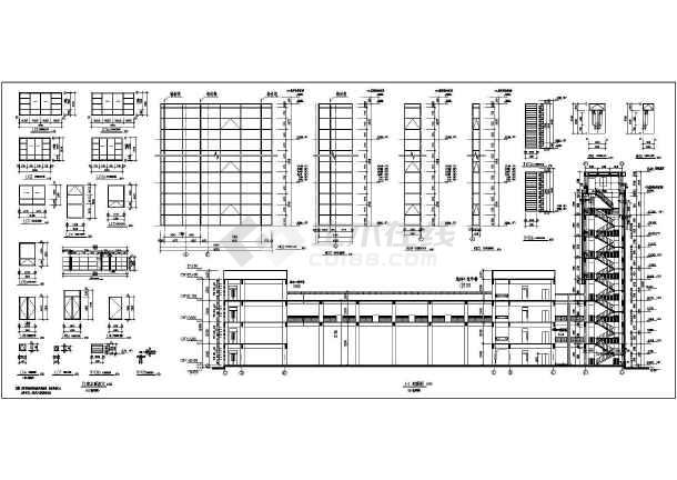 某地四层框架结构教学楼建筑施工图