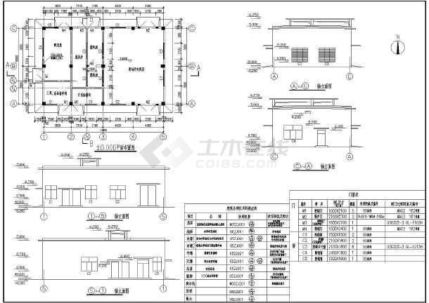 柴油发电机房单层框架结构设计施工图