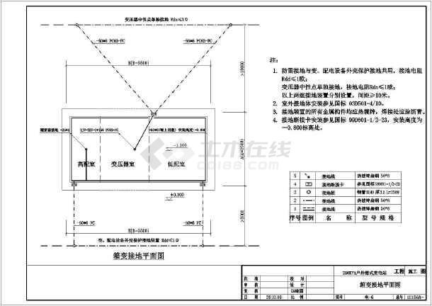 户外箱式变电站工程,主要内容为:施工图设计说明,箱变设备布置平面图图片