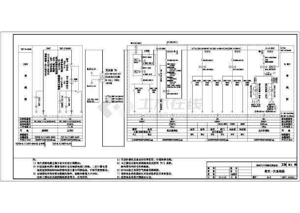 250kva户外箱式变电站工程电气设计图片