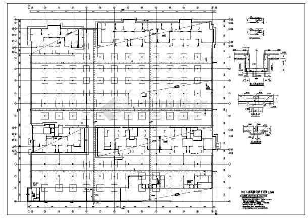 地商住小区人防地下室结构施工图图片