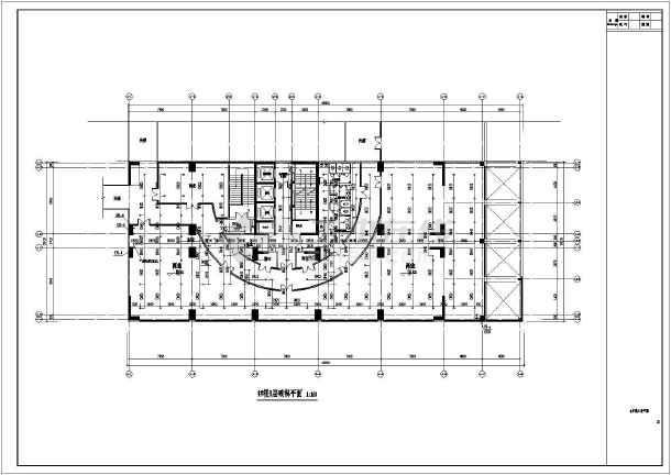 楼三层框架结构设计图三层混泥土框架结构农村房屋设计图商住楼喷淋