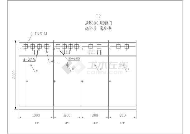 一套完整的双变压器箱式变电站电气设计图图片