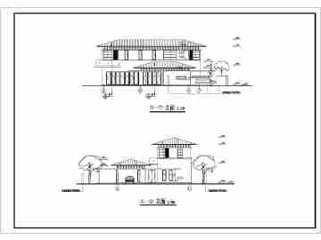 现代别墅建筑施工图实例