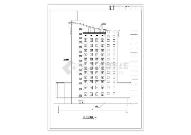 某地十层框架结构高层酒店建筑设计施工图纸