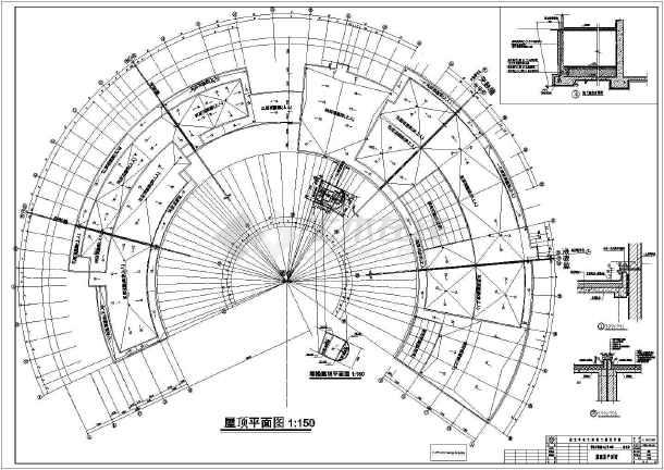 青岛某地大学五层框架结构图书馆建筑设计施工图纸