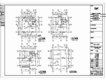 某农村地区三层别墅建筑设计施工图