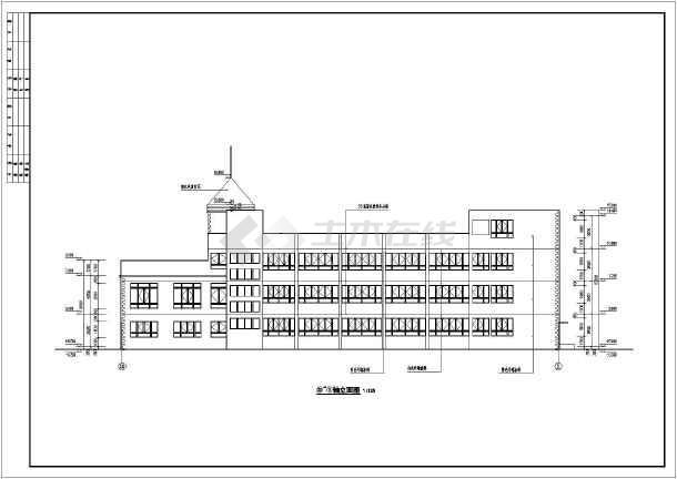 某地区3层12班幼儿园建筑设计施工图