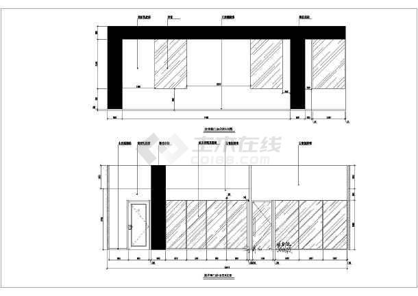 欧陆风格办公写字楼装修设计cad施工图