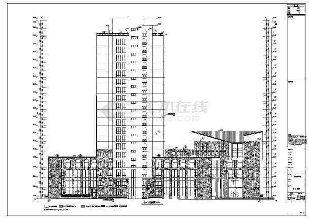 【安徽六安】某二十层中医院v大楼大楼病房绘制施工图为未来的桥建筑一副远景图图片