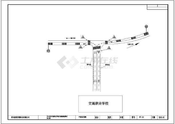 铜仁市万山区标线道路交通市政平面设计图_c2010cad使用说明图片