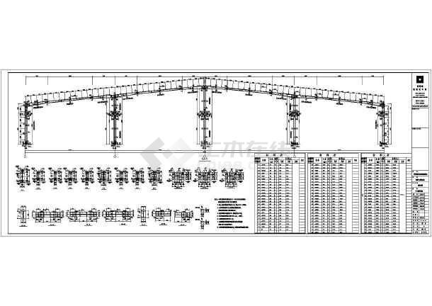 大夸度米厂房钢结构v厂房布局_cad图纸不中cad线中图纸图纸选下载有的图片