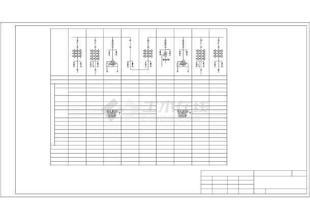 某35kv/10kV12500kVA箱式变电站轨道设计图电气cad图纸图片