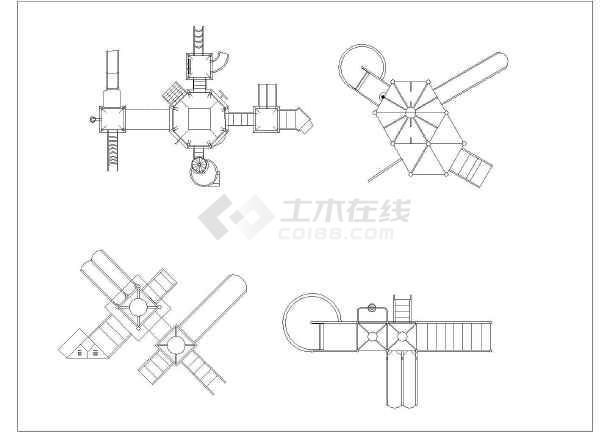 各式滑梯CAD图块集(整理收集)2009cad菜单栏显示图片
