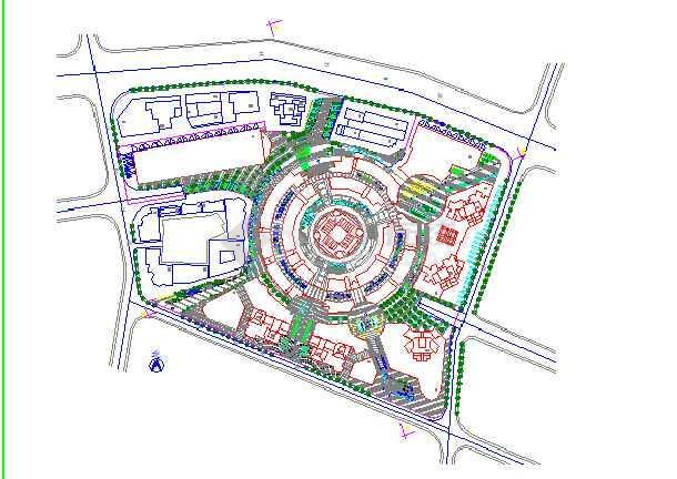 某地大型广场规划设计平面图(全套)
