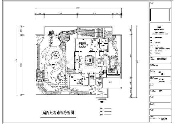 某地区中式别墅庭院景观设计施工图纸