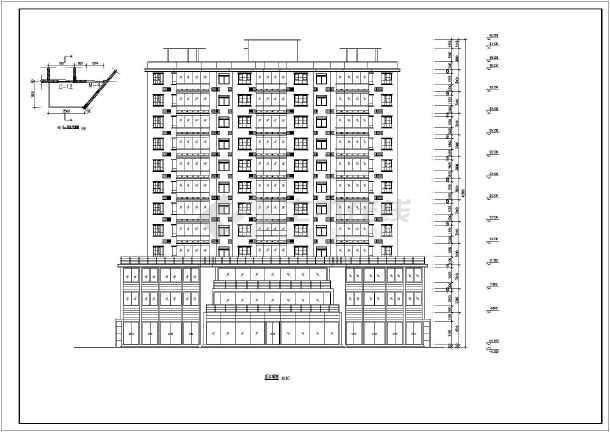 12层蝶形现浇砖混结构点式住宅楼建筑施工图