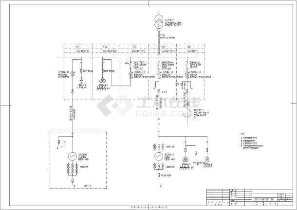 某地区发电机出口10kv配电装置接线图