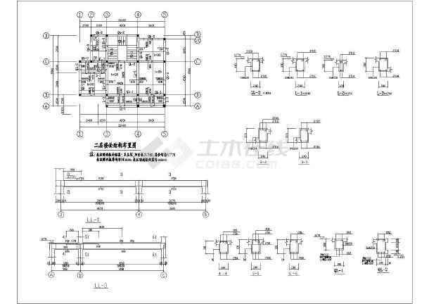 某地二层小型砖混别墅结构设计施工图
