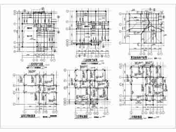 某三层小型框架别墅结构设计施工图