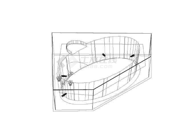 建筑给排水设计卫生洁具三维图块集_cad图纸下载-土木