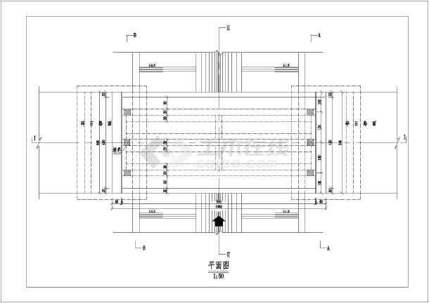 水利工程技施阶段某农桥结构钢筋图