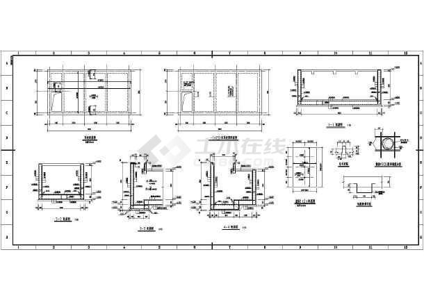 2m高地下水池结构施工图
