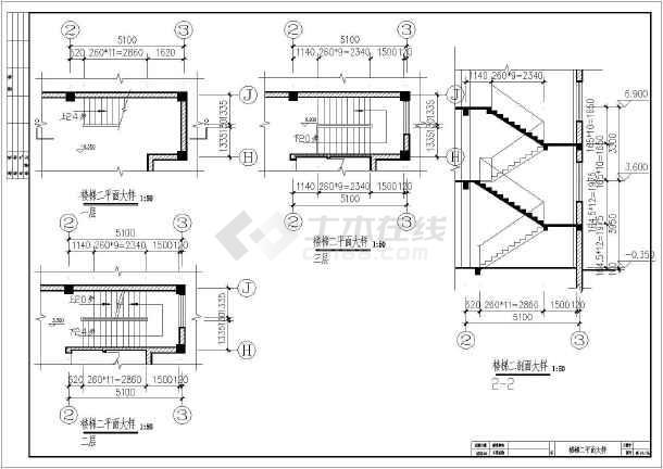 某农村四层框架结构住宅楼全套设计施工图
