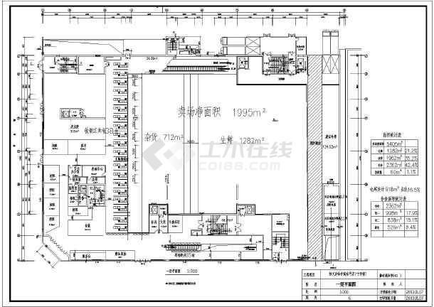 好又多超市建筑图纸布局方案设计平面施工的和组织设计区别方案施工图片