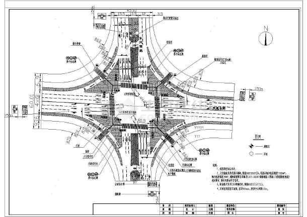 道路十字路口设计图展示图片