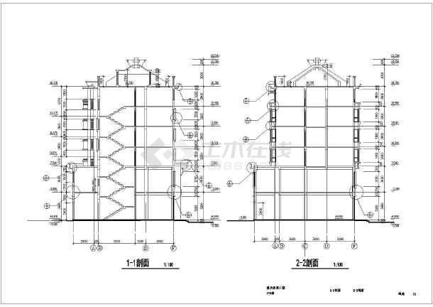 多层普通框架结构住宅楼建筑设计施工图