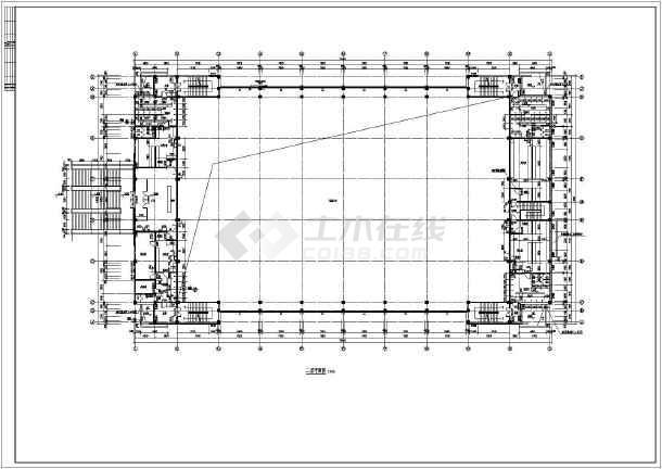某大学网架结构屋顶游泳馆建筑施工图纸