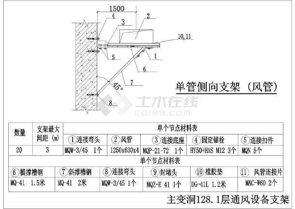 给水管及图纸水管各型图纸标准图_cad空调下17Edc支架版电脑图片