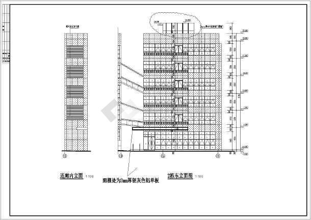 某地6层桩基创意产业园办公金融图纸设计深化大楼下载幕墙图片