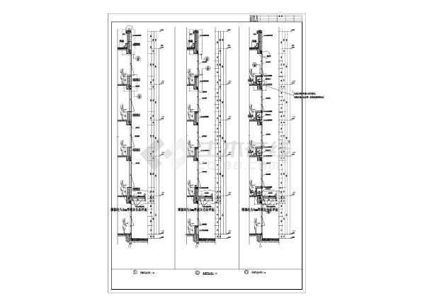 某地6层幕墙创意产业园办公金融大楼设计深化气器缓冲锁图纸图片