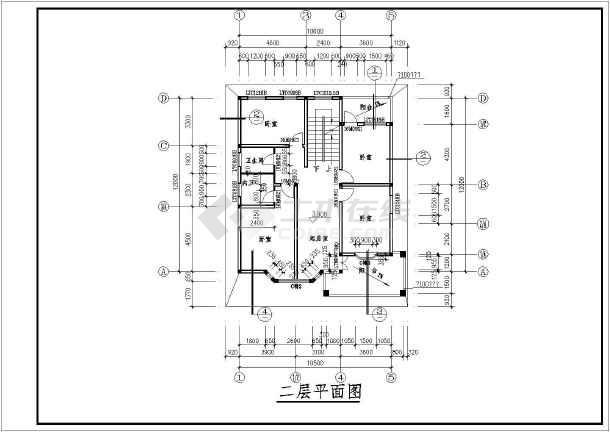 某地两层带隔热层别墅建筑设计方案图