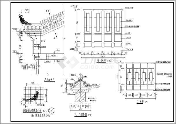 安徽某五层房屋仿古改造建筑设计施工图