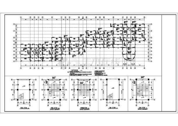 某3层混凝土框架结构幼儿园教学楼结构施工图