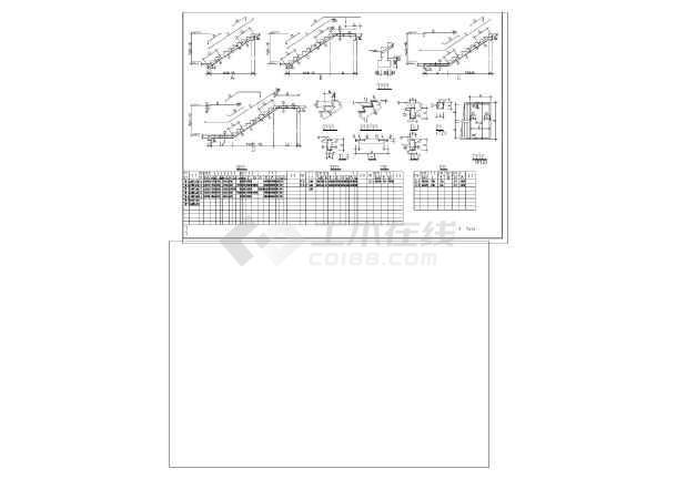 建筑结构图 结构构造图纸 楼梯电梯构造图 比较常用的楼梯样式结构