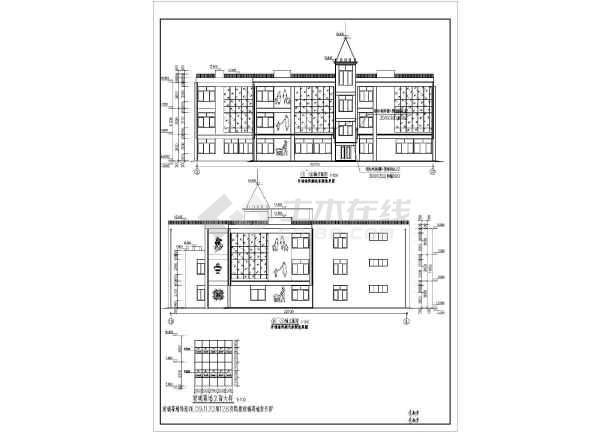 山东某地三层混凝土框架结构幼儿园全套建筑结构施工图