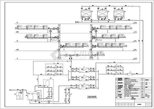 某工程中央空调系统制冷机房设计施工图纸图片