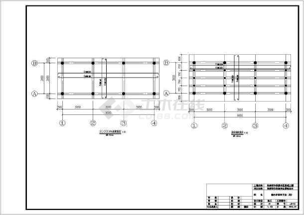 某休闲娱乐区混凝土及圆木结构茅草亭施工图