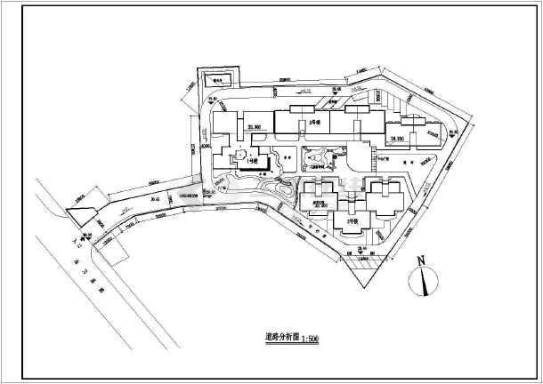 某居民楼小区总平面图建筑施工图纸