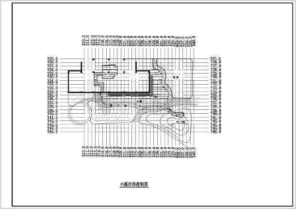 小区总平面图建筑施工图纸,图纸包括:总平面坐标图,道路定位及竖图片