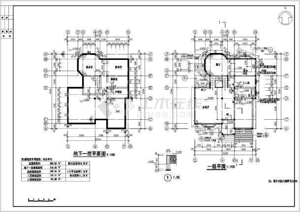 某地3层砖混结构独栋别墅建筑设计方案图纸
