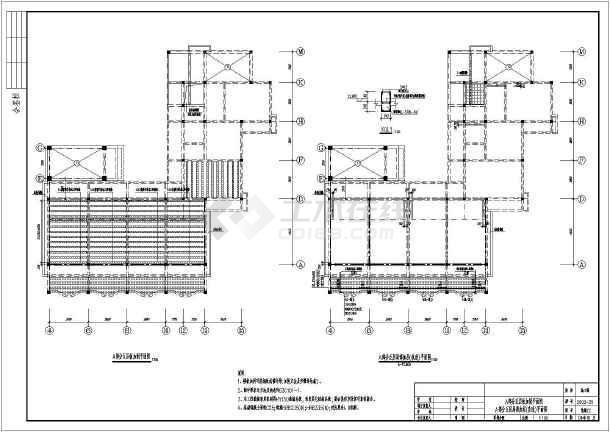 某多层结构框架办公楼建筑设计设计图井冈加固之星大赛图片