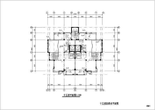 某十五层普通住宅给排水v图纸施工图沃尔沃图纸门锁图片