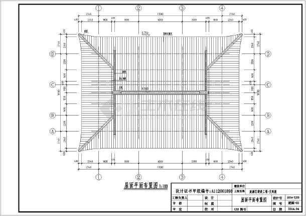 古建文殊殿建筑结构全套设计施工图