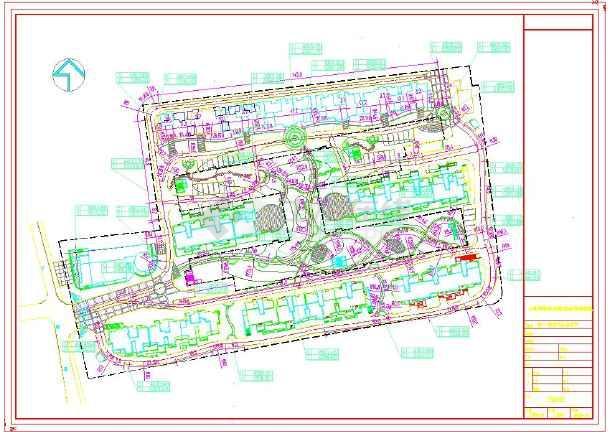 【竖向设计图】苏州住宅小区全套景观设计图(cad怎样集使用并图片