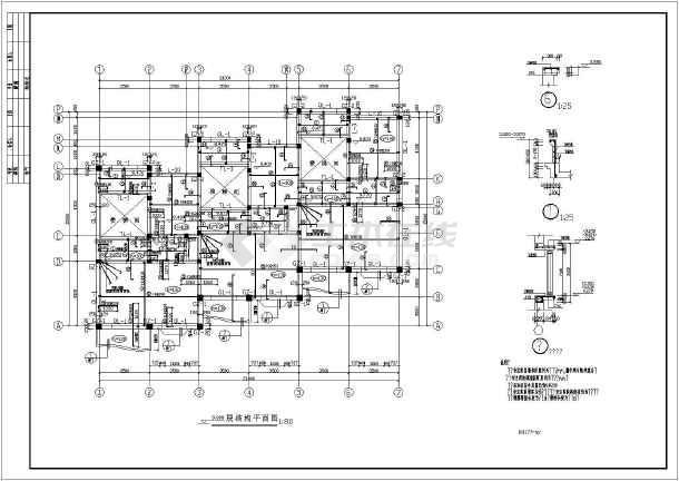 某三层砖混别墅建筑结构施工图(含模型)